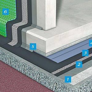 example diagram of a Koster waterproofing system